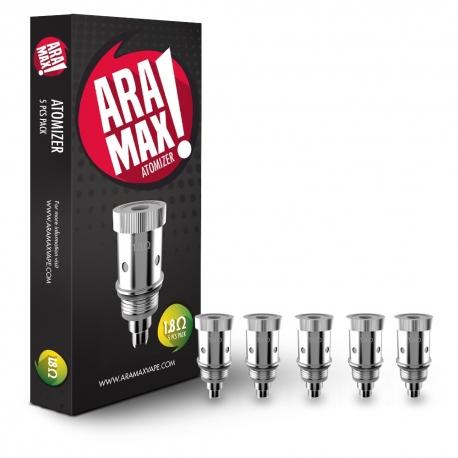 Résistances Aramax/LiQua Q Vaping Pen - 1.8 Ohms - pack de 5