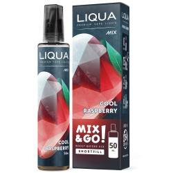 E-liquide LIQUA 50 ml Mix & Go Cool Raspberry / Framboise Glacée